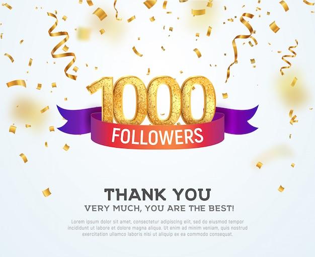Celebrating followers in social network Premium Vector