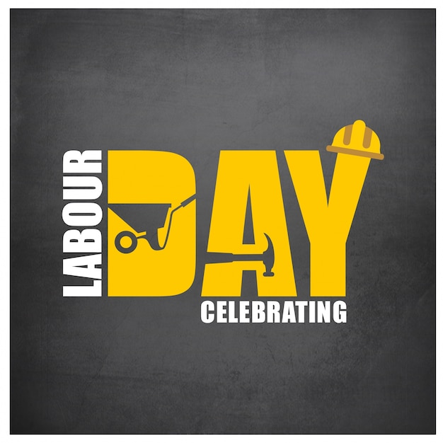 Celebrating labour day background Free Vector