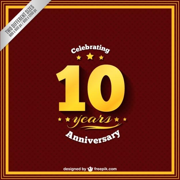 Празднование годовщины десять лет Бесплатные векторы