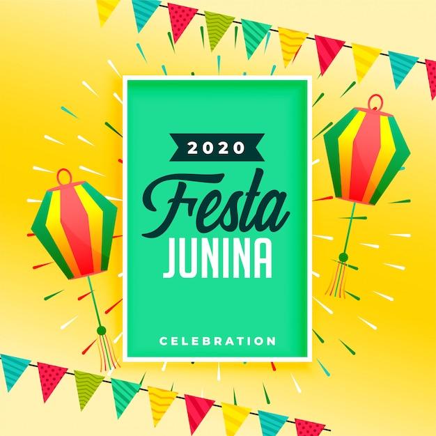 Праздничный фон для дизайна фестиваля festa junina Бесплатные векторы