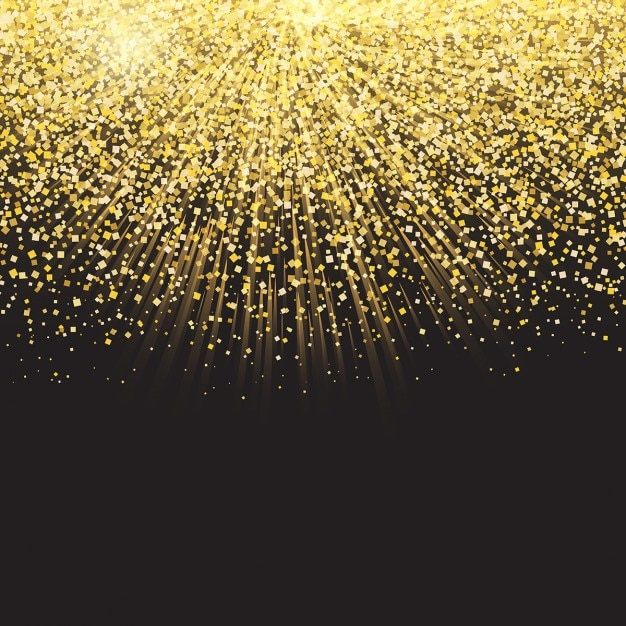 Celebration Background With Golden Confetti Vector