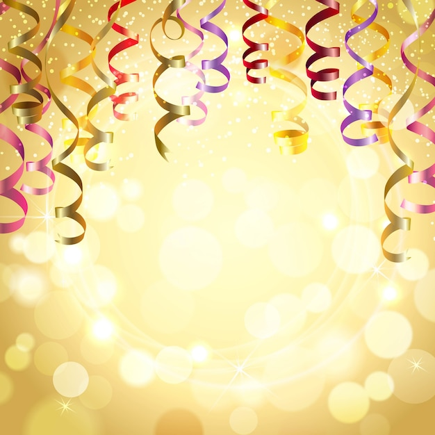 Birthday vectors photos and psd files free download celebration background with streamers bookmarktalkfo Choice Image