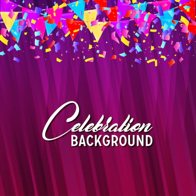 Celebration background Free Vector