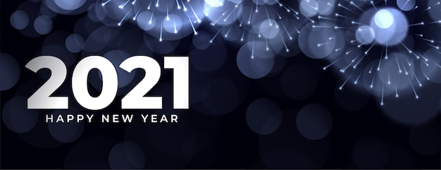 Celebration banner for new year event Free Vector
