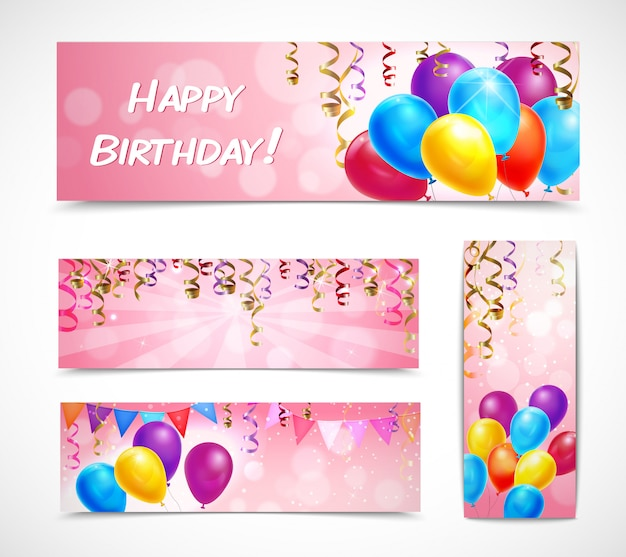 Birthday Banner Vectors, Photos And PSD Files