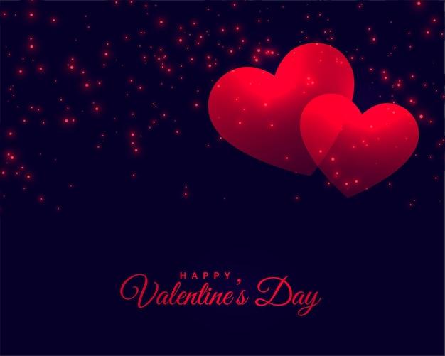 Carta di celebrazione del giorno di san valentino Vettore gratuito
