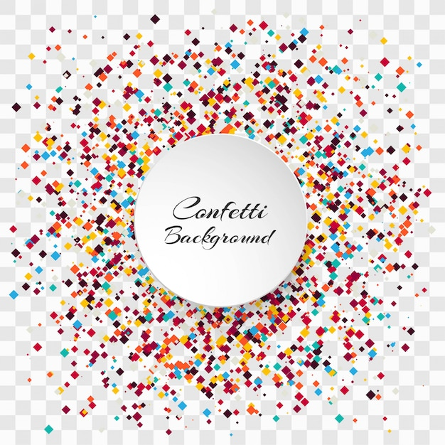 Celebration colorful confetti transparent background vector Free Vector