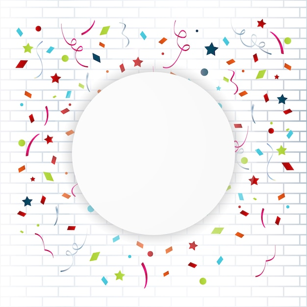 Celebration colorful frame background with confetti vector – Bday Card Invitation