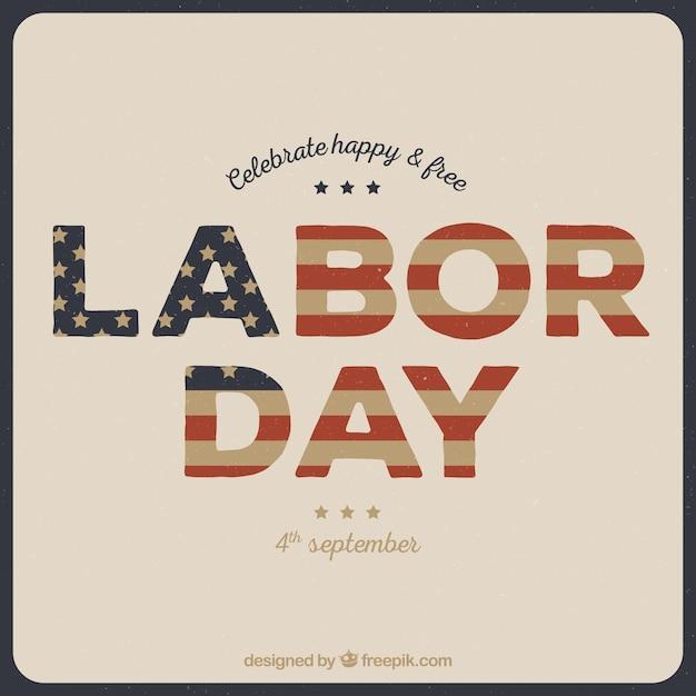 Celebration retro labor day background