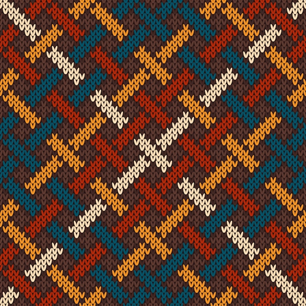 Celtic knitted pattern. seamless background   Premium Vector