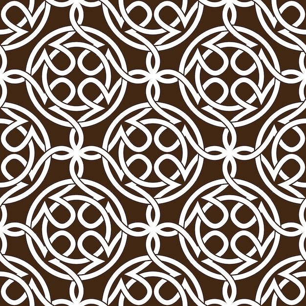 Celtic knot abstract seamless pattern ornament Premium Vector