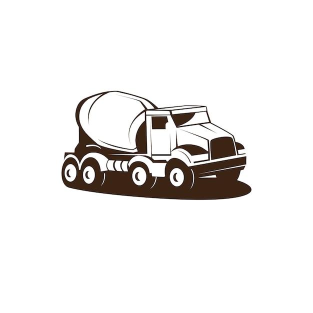 Cement truck Premium Vector