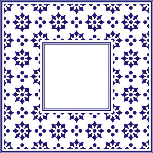 Ceramic frame Premium Vector