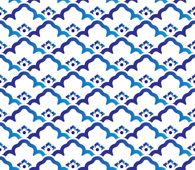 Ceramic pattern Premium Vector