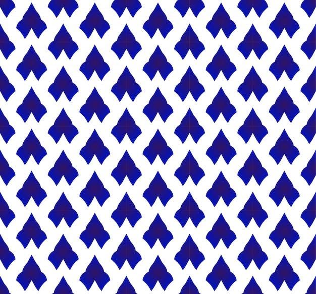 Ceramic thai pattern blue and white Premium Vector
