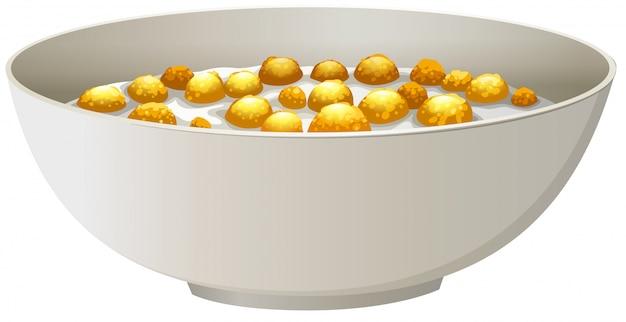 Cereal bowl Premium Vector