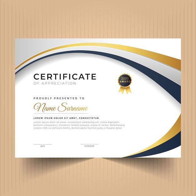 Certificate of achievement template Premium Vector