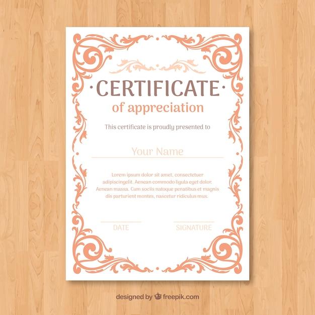 Certificate of appreciation design Free Vector