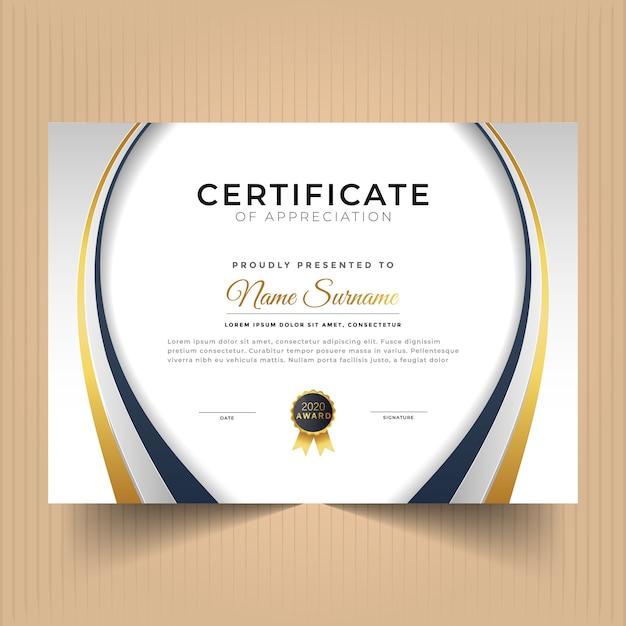 Certificate of appreciation template Premium Vector