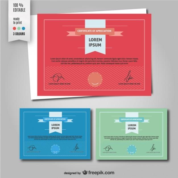 Certificate of apreciation template Free Vector