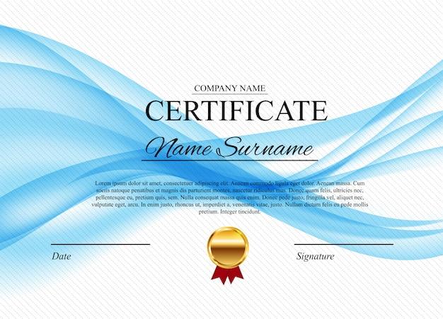 Certificate award diploma template Premium Vector