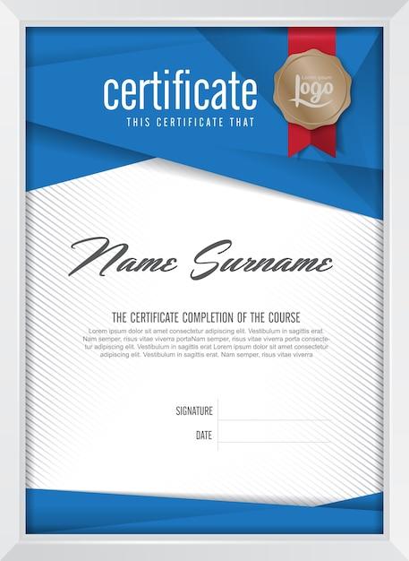 証明書の背景テンプレート Premiumベクター