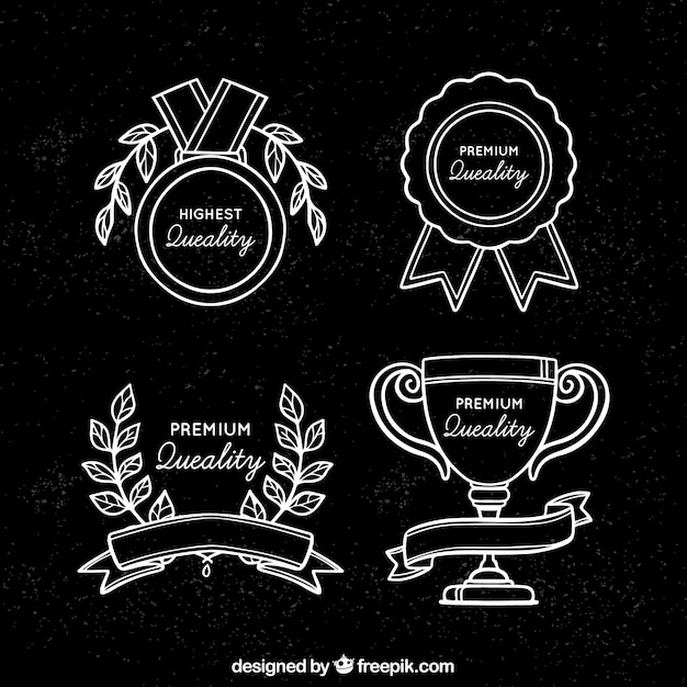 Certificate Badge Collection Vector Free Download