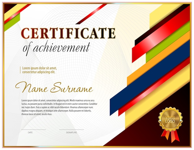 Certificate blank template. Vector | Premium Download