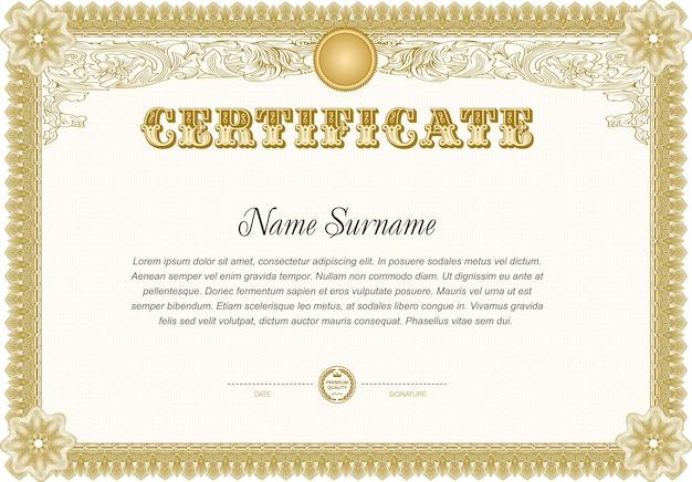 Certificate Blank Template Vector Premium Download