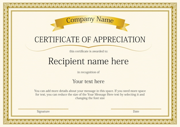 Attractive Certificate Border Template Free Vector  Certificate Borders Free Download