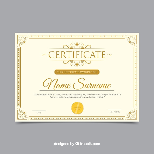 Certificate Border With Ornamentation Vector