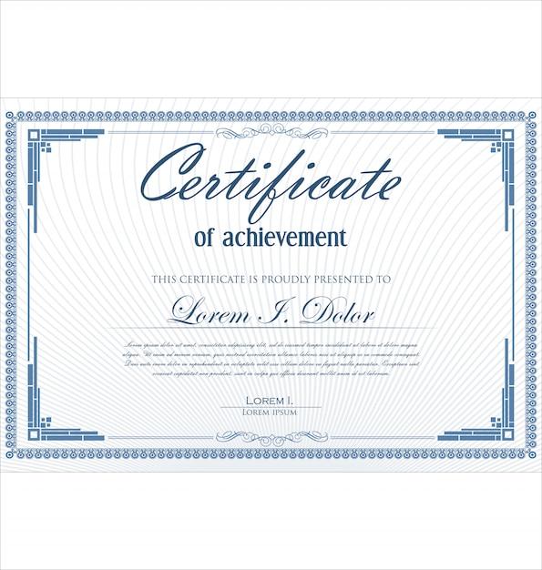 Certificate or diploma retro vintage template Premium Vector