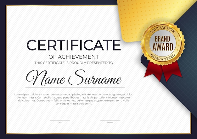 Premium Vector   Certificate, diploma template background. eps10