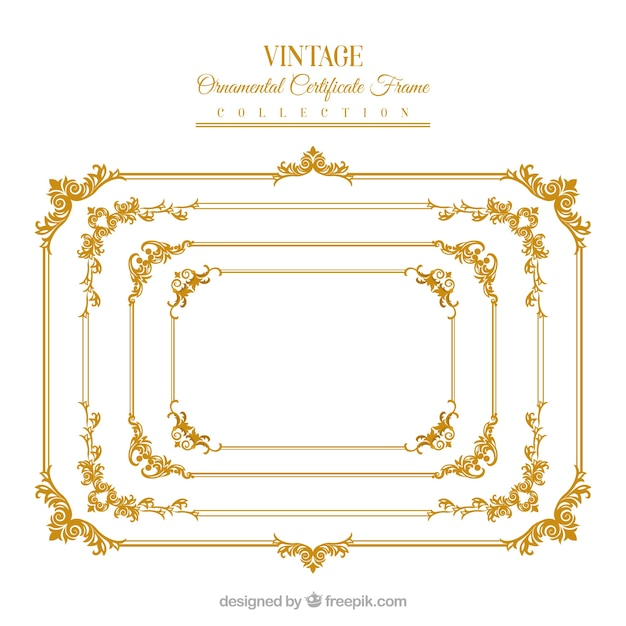 Certificate Frame Collectio Vector Free Download