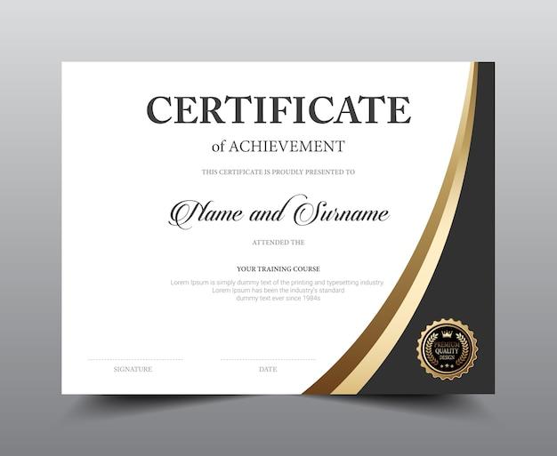 Certificate layout template design. Premium Vector