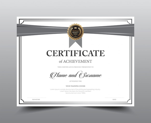 Certificate layout template design. Premium Vector