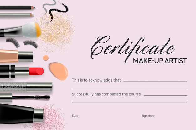 Certificate Makeup Artist Education