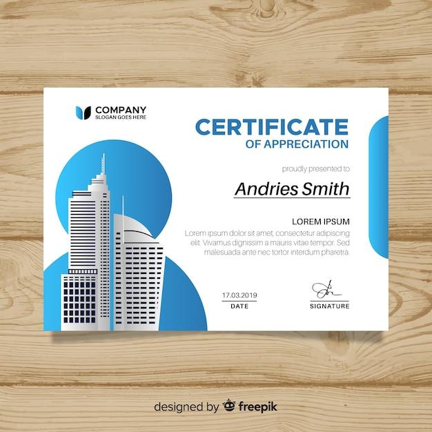 Шаблон сертификата успеха Бесплатные векторы