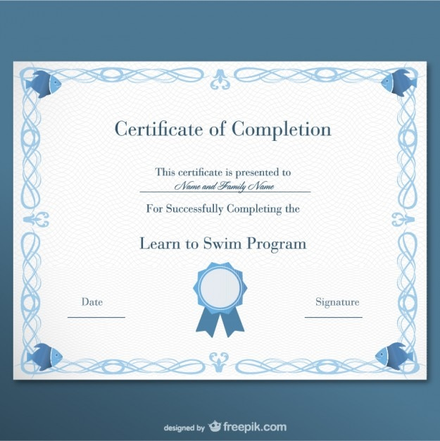 Certificate of completion vector free download for Certificate of completion template free download