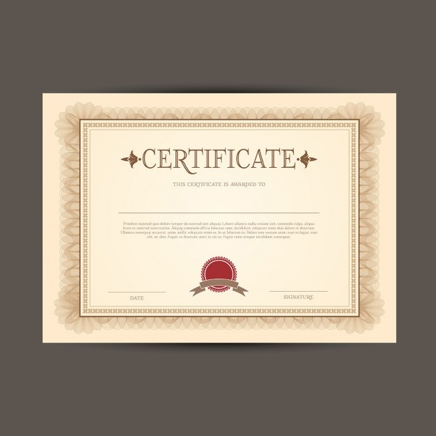 Certificate or diploma template vector free download certificate or diploma template free vector yadclub Image collections
