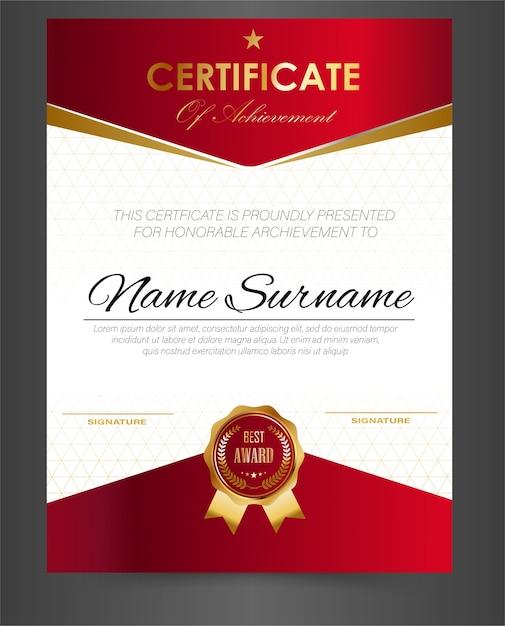 Certificate Template Design A4 Size Vector Premium Download