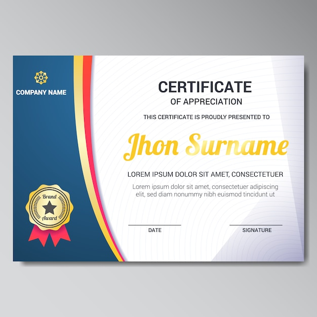 Certificate template design vector free download certificate template design free vector yadclub Image collections