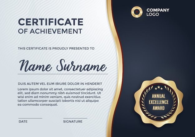 Awesome Certificate Template Design Free Vector In Certificate Designs Templates