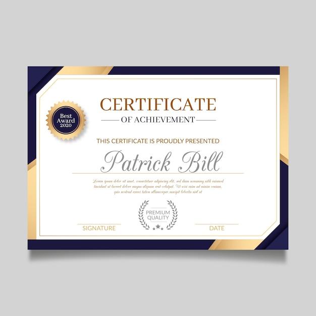 Certificate template in elegant design Premium Vector