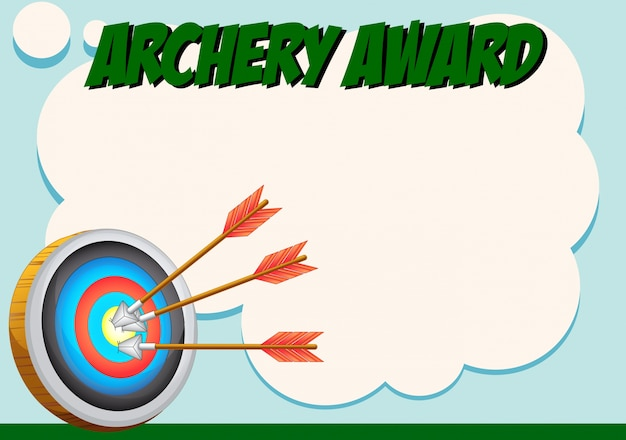 Certificate template for archery award Vector – Template Award