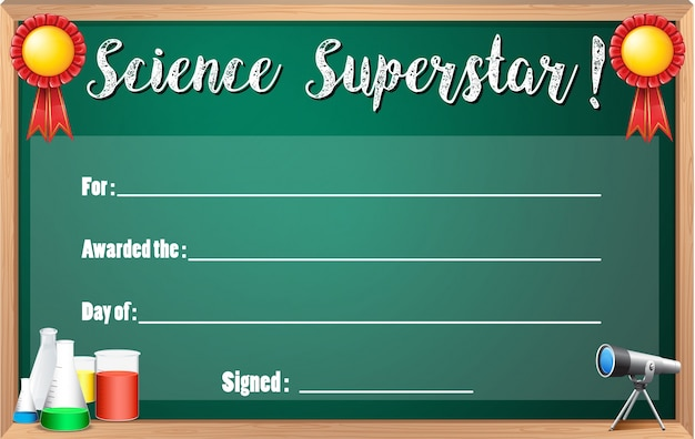 Certificate template for science superstar vector free download certificate template for science superstar free vector yelopaper Image collections
