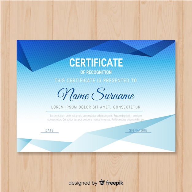 Certificate Template In Modern Design Vector Free Download