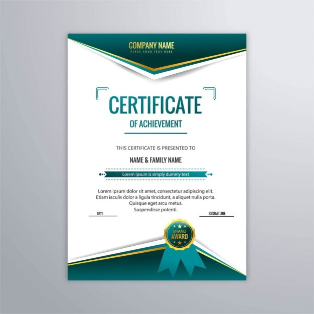 Certificate template in modern style vector free download certificate template in modern style free vector yadclub Images