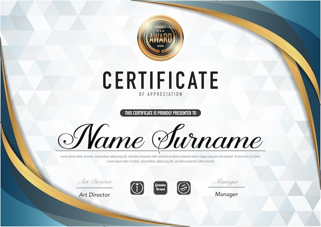 certificate template luxury and diploma style  vector