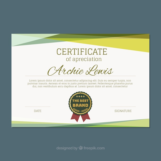 Download Vector Certificate Template With Colored Shapes